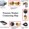"Pressure Washer Adapter Set, Quick Disconnect Kit, M22 Swivel to 3/8'' Quick Connect, 3/4"" to Quick Release"