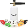 Pressure Washer Gun Snow Foam Lance Cannon Foam Blaster, with Pressure Washer Nozzle Tip